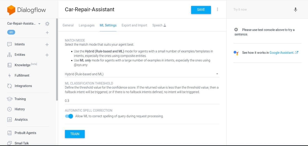Workflow Monitoring - DialogFlow and AWS Walkthrough