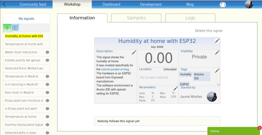 Monitoring temperature and humidity with ESP32 - Hackster io