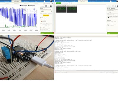 Monitoring temperature and humidity with ESP32