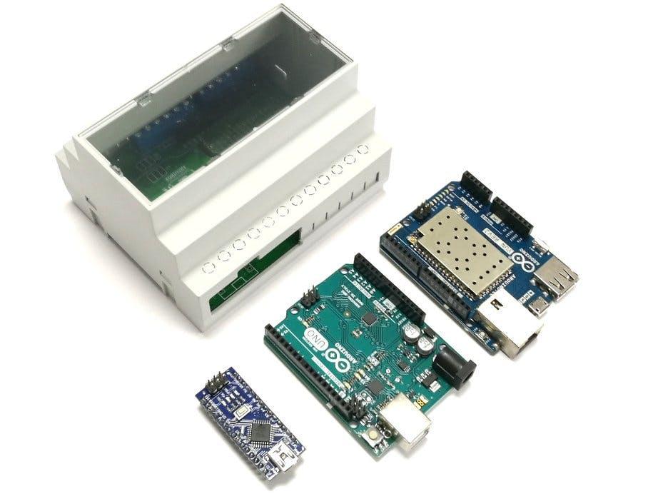 DIN Rail Mount for Arduino YUN, UNO and Nano