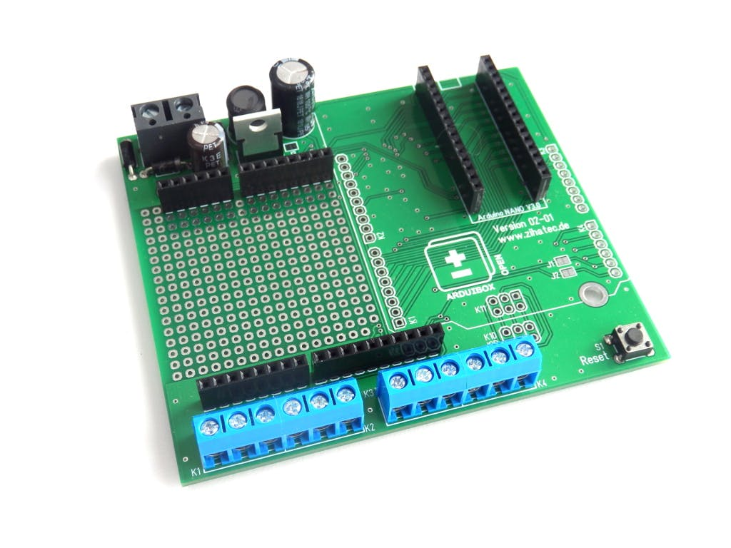 PCB assembled for Arduino NANO
