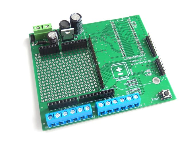 PCB assembled for Arduino UNO or YUN Rev2