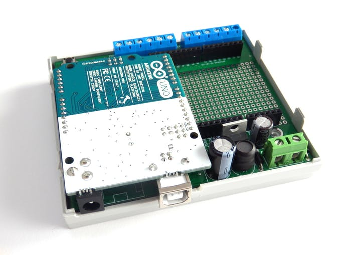 PCB with mounted Arduino UNO