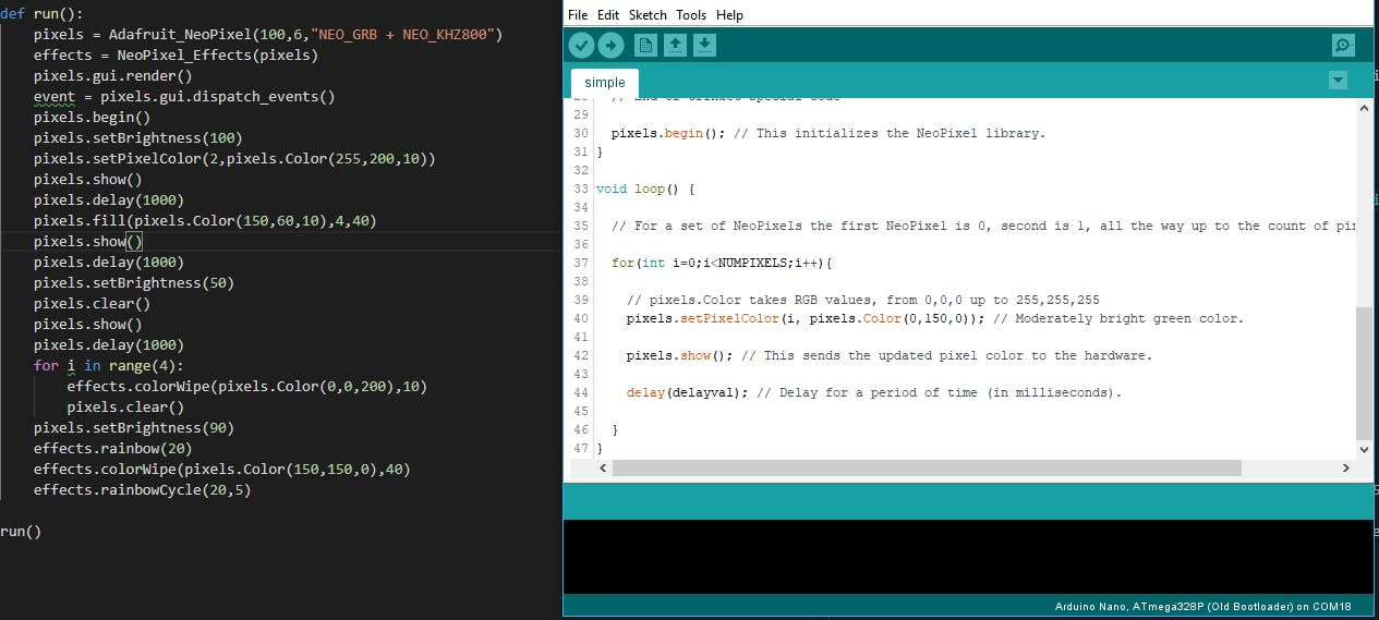 NeoPixel Emulator with Python - Hackster io