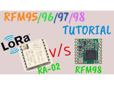 LoRa RFM98 Tutorial Ra-02 HopeRF Module Comparison