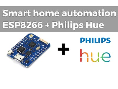 Smart Home Automation Lights with ESP8266 and Philips Hue