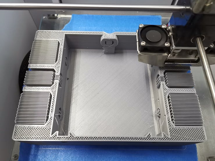 It took us more than 36 hours to print the upper and lower casing