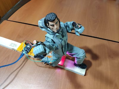 IoT Modified Action-Man Figure with Laser Beams