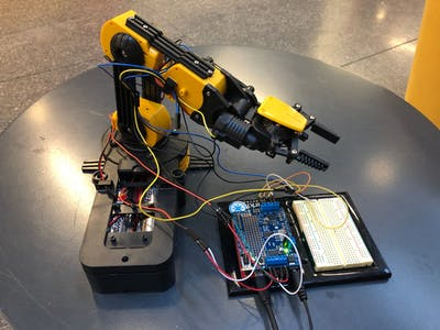 Particle Powered Robot Arm