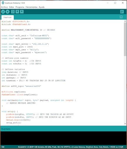 Verifying NodeMCU configuration data