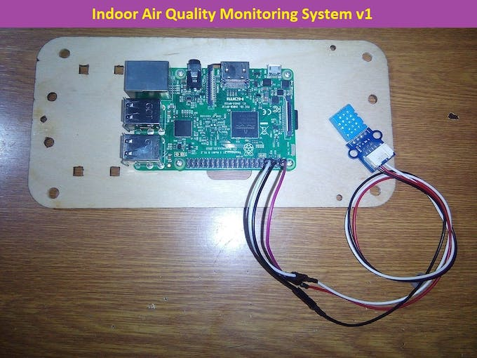 Connection of the DHT11 sensor to the Raspberry Pi board