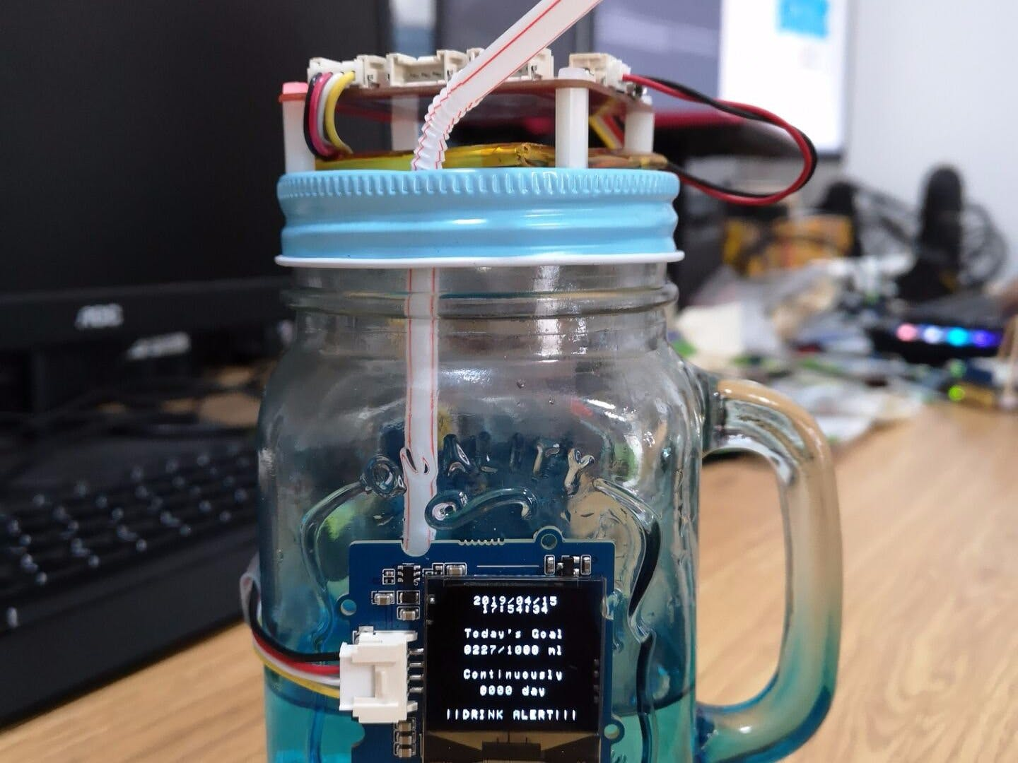 Drinking Reminder Water Bottle with AllThingsTalk