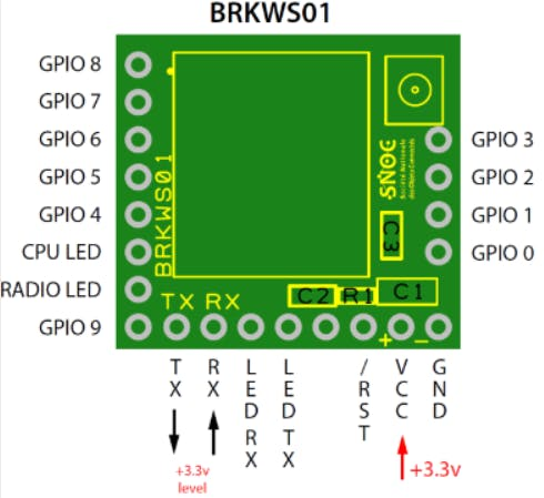 BRKWS01 board wiring diagram