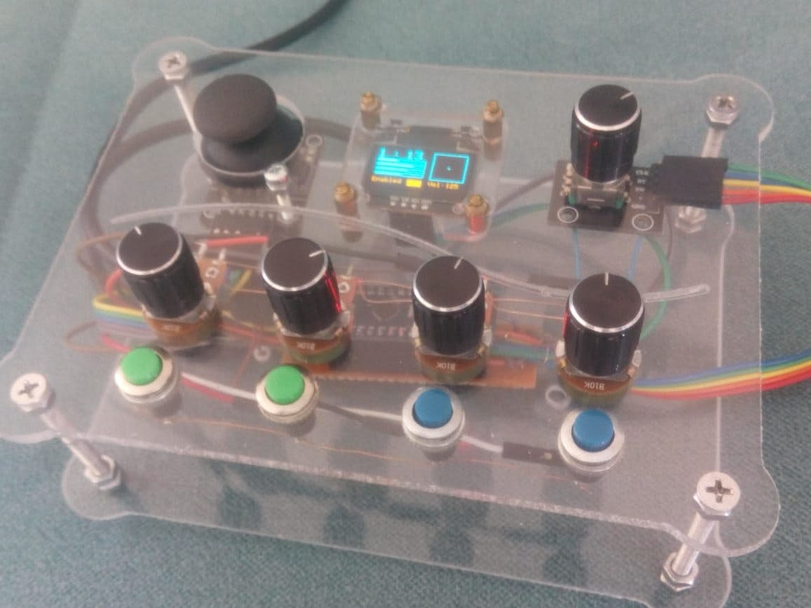 Arduino MIDI Controller with Encoder + OLED Display