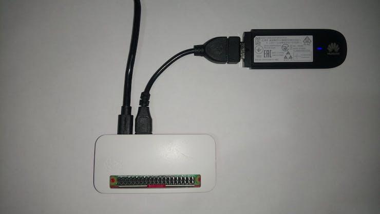 RPi Zero W and HUAWEI 3G USB Modem
