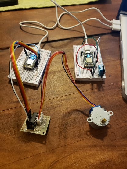 The parts of equipment with both photons that was meant to run this project