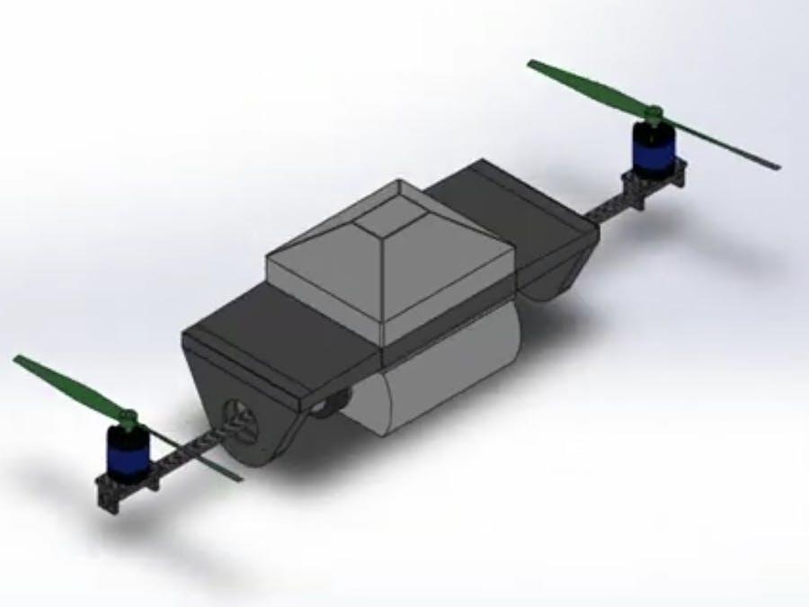 BI-Copter Drone based on FOC