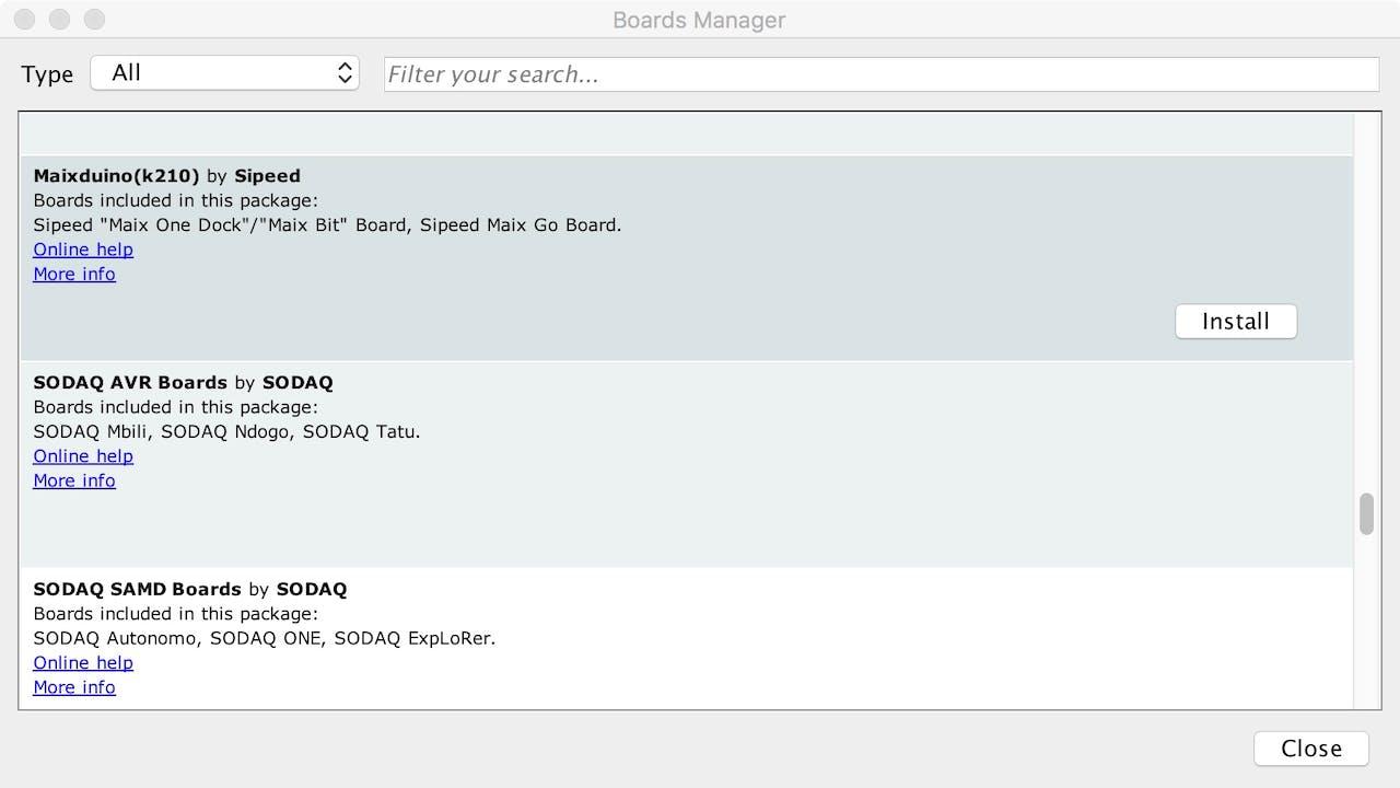 AIoT: Sipeed MAix Board + Arduino on OSX - Hackster io
