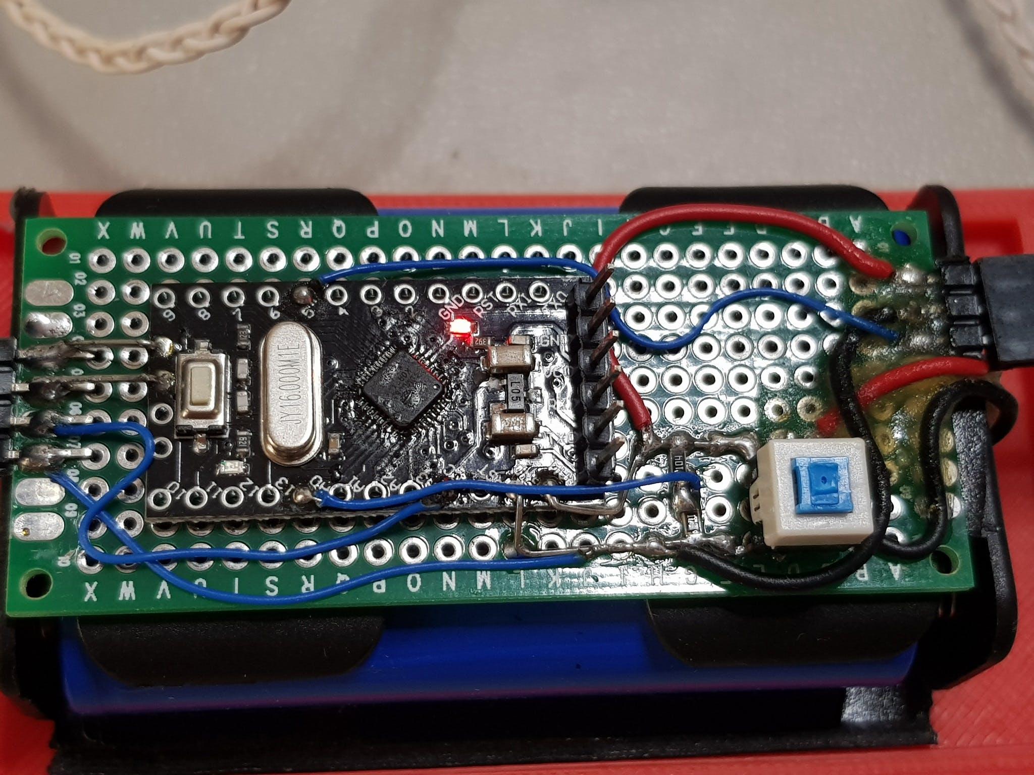 Arduino Pro Mini 168 board on a perf board