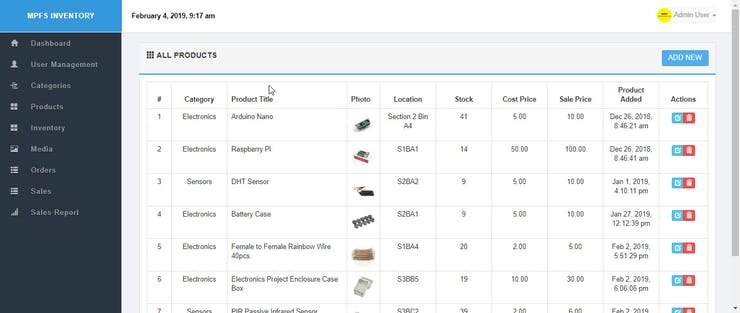 Serving Your Own Inventory Management System - Hackster io