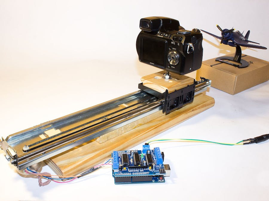 Slider Built with Recycled Printer Cart