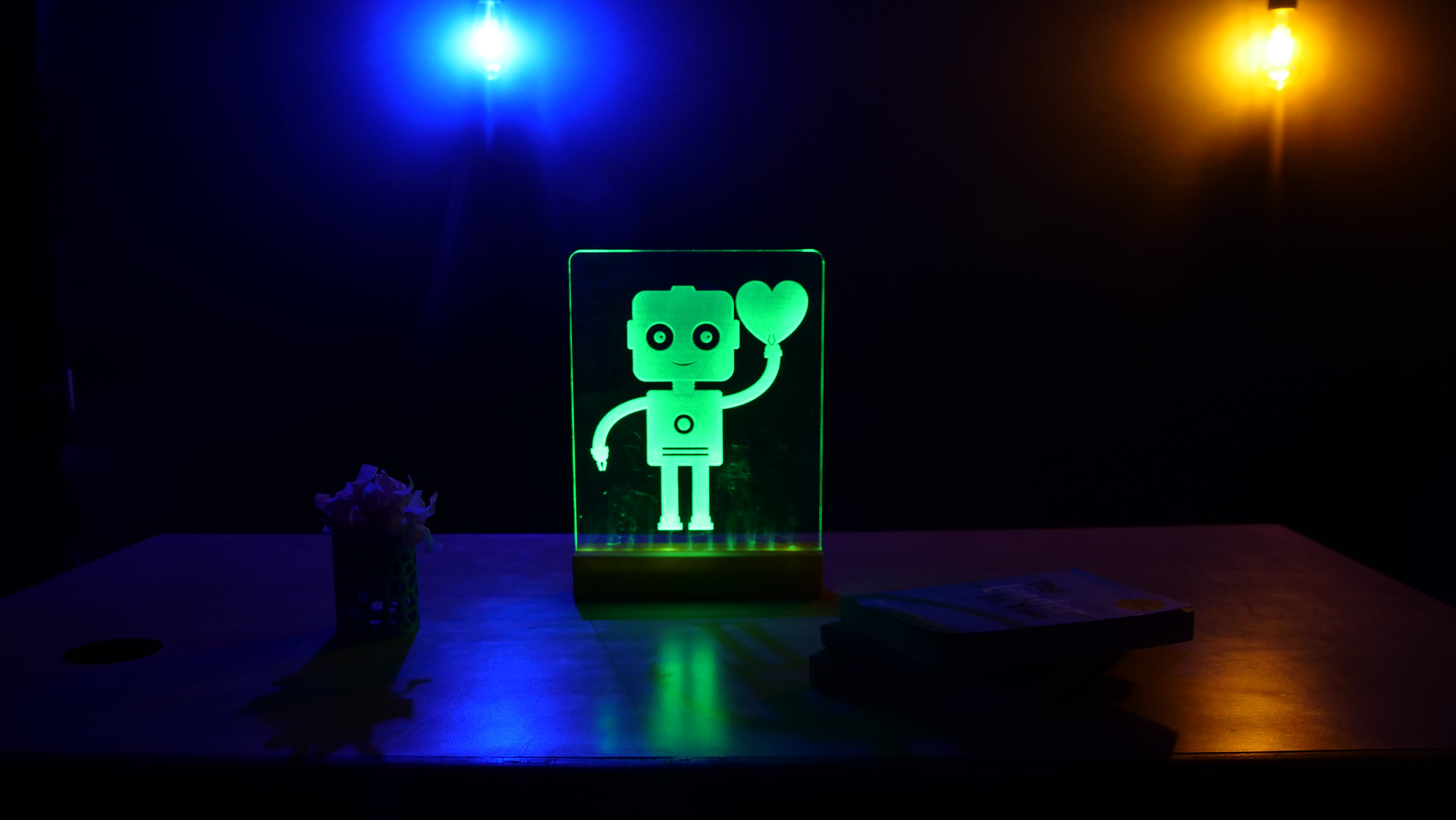 Edge Lit Acrylic LED Sign Using Arduino