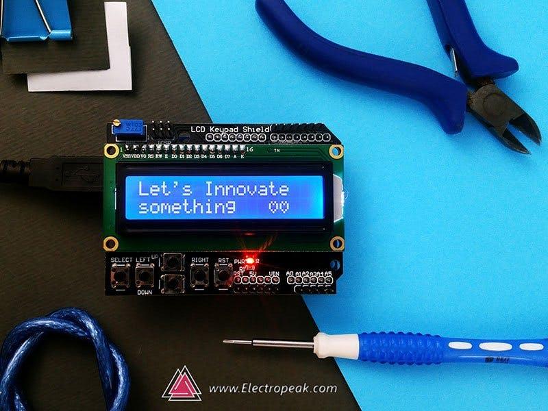 Using 1602 LCD Keypad Shield w/ Arduino [w/ Examples]