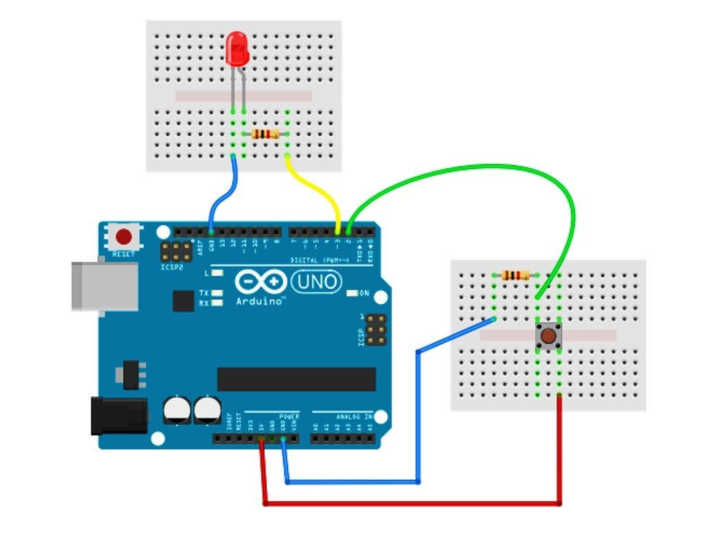 Working with an LED and a Push Button