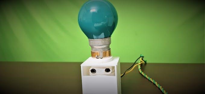 Light Bulb - 3D printed holder
