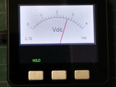Analog-Style Digital Voltage Meter on M5Stack