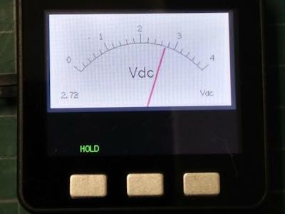 Analog-Style Digital Voltage Meter on M5Stack