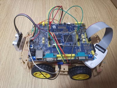 Distance-Controlled Model Car