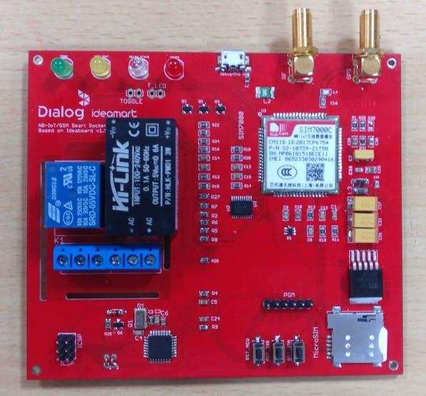 Extended PCB version of Ideamart Dev board for Smart Power socket
