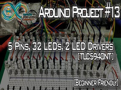 5 Pins, 32 LEDs, 2 LED Drivers [TLC5940]