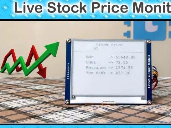 Portable Live Stock Price Monitoring Device Using ESP32