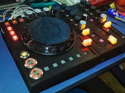 Arduino MIDI CDJ 3D-Printed