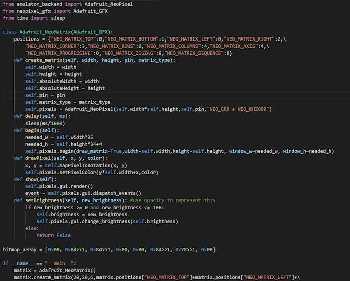 NeoPixel Matrix Emulator - Hackster io