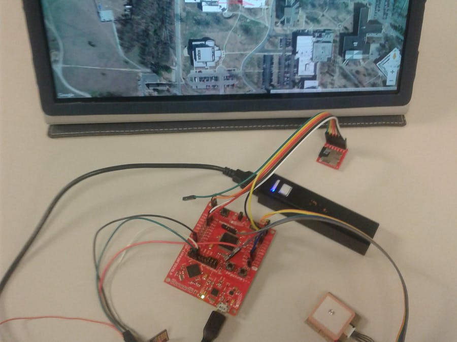 MSP430F5529LP-Based GPS Tracking System