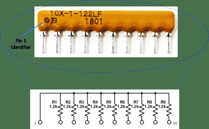 Internal Circuitry of 9-Resistor Array