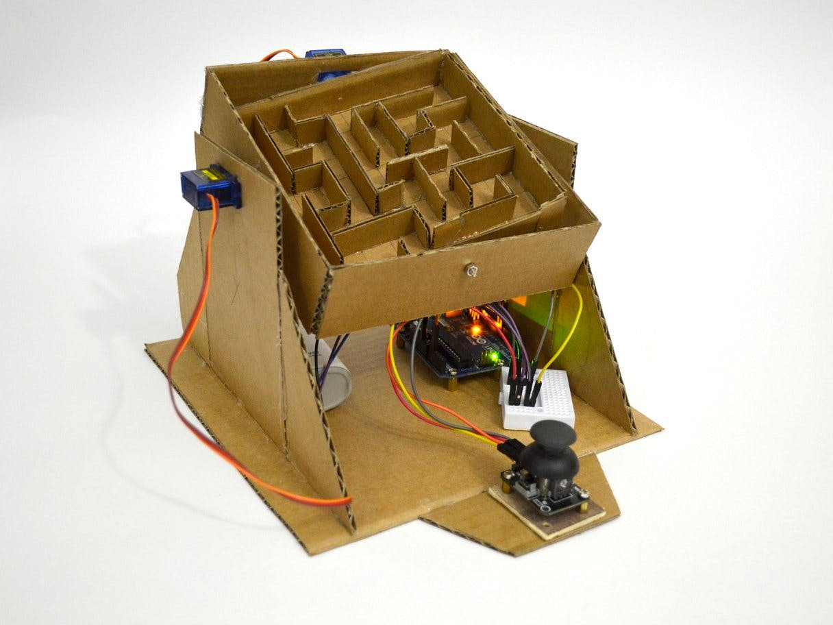 Arduino Marble Maze Labyrinth