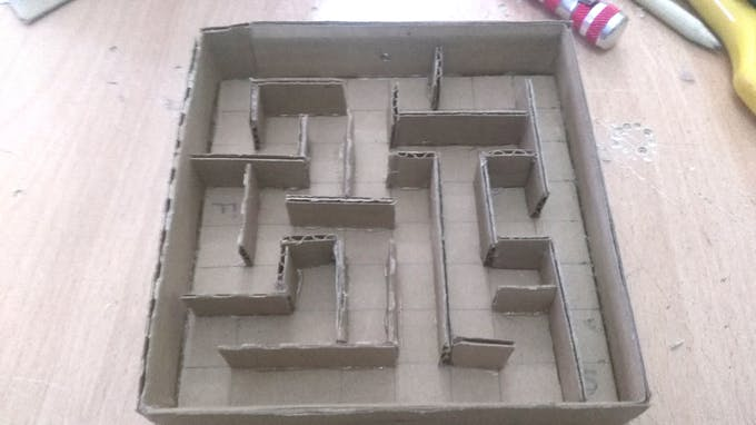 maze finishing shape