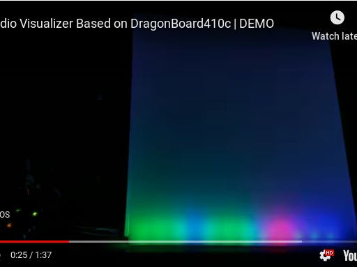Audio Visualizer Using DragonBoard410c