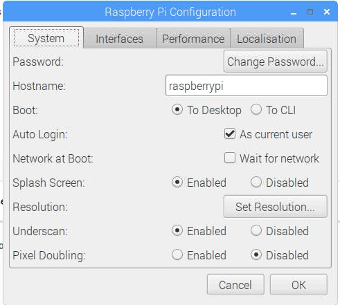 Setting the config preferences