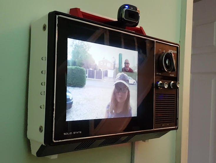 The Hitachi Pi TV upgraded to make & receive Duo video calls