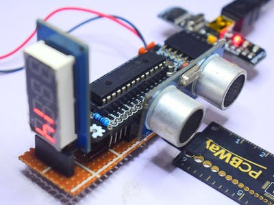 Range Finder Using CloudX Microcontroller Board