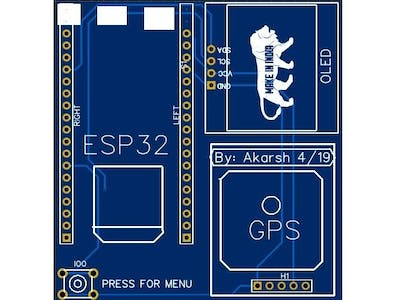 ESP32 Dev Board with GPS and OLED Display
