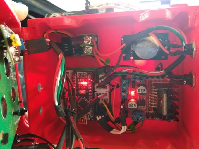 B-Sample Enclosure Internal View