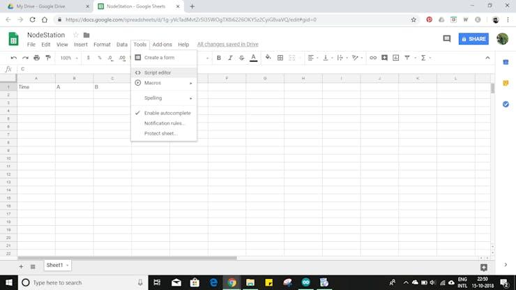 Sensor Data Upload to Google Sheets Through NodeMCU | iotplaybook com