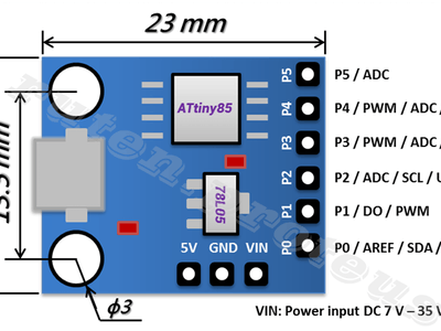 Use an ATtiny85 with Arduino IDE