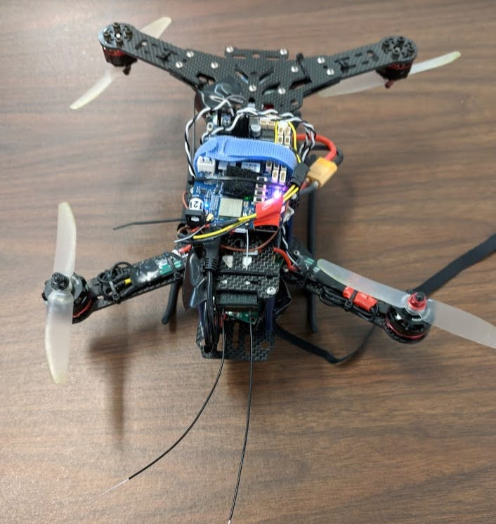 Battery is mounted in the middle RC receiver in the front (the antenna at the bottom)